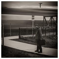 Off to the City (_Matt_T_) Tags: 42 explore train selfie blur dailyinfebruary bw longexposure 365 hdpdfa28105mmf3556eddcwr burlington ontario canada ca