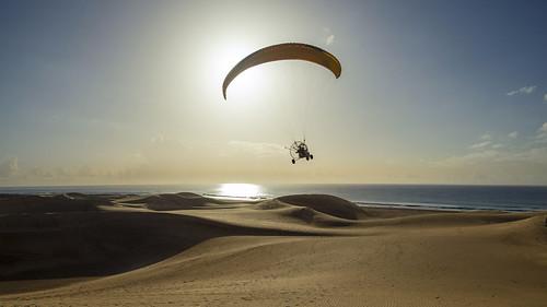 Flying over Dunes of Maspalomas