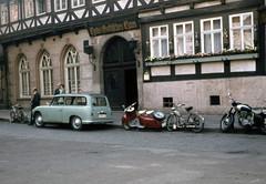img831 (foundin_a_attic) Tags: wernigerode markt ddr p70 gothisches haus sr2 simson motorroller berlin