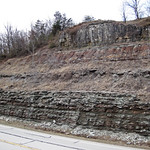 Slade Formation over Cowbell Member (Mississippian; Route 519 Outcrop, south of Morehead, Kentucky, USA) 6 thumbnail