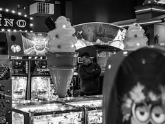 (3 of 3) Ice Cream Dreams - On the Pier... (+Pattycake+) Tags: streetphotography icecream winter street people moon slotmachines amusementarcades offseason candid monochrome winterseaside eastcoast pier blackandwhite 10dec18 bw dreams felixstowe seaside