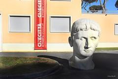 Cinecittà Studios (Cristian Mauriello) Tags: roma rome italia italy street urban city film monument composition cinecittà studios color yellow red white statue portrait canon