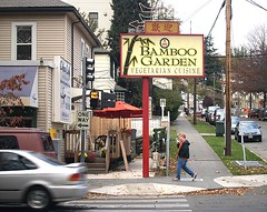 The Bamboo Garden (Dave Duricy) Tags: seattle chinese restaurant food street photography city urban car sign signage pacific northwest washington washingtonstate usa