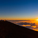 Sonnenuntergang Haleakala Krater Maui Hawaii