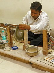 _MG_3138_DxO (carrolldeweese) Tags: agra india marble inlay worker
