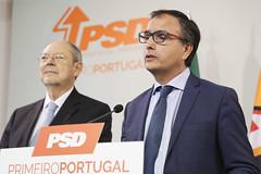 Conferência de imprensa de António Costa Silva, vice-presidente do GPPSD, e Luís Todo Bom, porta-voz do CEN para a Economia, Trabalho e Inovação, a propósito da aprovação da reprogramação do Portugal 2020