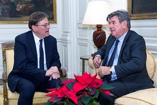 Ximo Puig se reúne con el embajador de España en Londres (10/11/2018)
