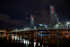 Hawthorne Bridge, Portland Oregon At Night (coljacksg) Tags: hawthorne bridge portland oregon evening clouds reflection water christmas lights governor tom mccall waterfront park sony a7r tamaron 2875mm ld