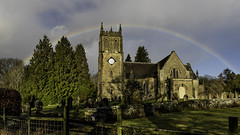 Rainbow over St Paul's, Parkend (Thomas Winstone) Tags: stpauls parkend church rainbow rain sun clouds trees