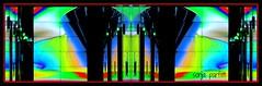 lobby lights  mirror (Sonja Parfitt) Tags: mirror color bright lobby office vancouver