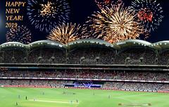HAPPY NEW YEAR 2019 - Adelaide Oval T20_1 (Rikx) Tags: happynewyear2019 2019 newyear happy new year fireworks adelaideoval t20 t20bigbash t20cricket night nightcricket bbl bbl08 adelaide southaustralia downunder