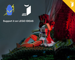 LEGO IDEAS: The Fairy on The Flower (Ben Cossy) Tags: lego moc afol tfol ideas flower fairy queen titania midsummer nights dream shakespeare fairytale tale story myth friends elves girl project support