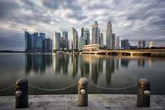 NEBULOUS (ChieFer Teodoro) Tags: canon 6d 1635mm lee filter big stopper 10 stops neutral density arca swiss gitzo gt2541 landscape cityscape singapore cbd raffles place sunrise nebuluos cloudy