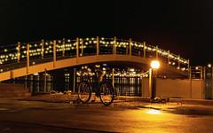 Arendal Gjestehavn 2 juledag 2018 (Øyvind Bjerkholt (Thanks for 67 million+ views)) Tags: arendal gjestehavn night nocturne bokeh dof f28 canon city town nightwalk bridge lamppost bicycle holidayseason december longexposure norway