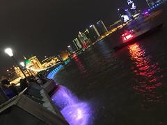 Riverside of Shanghai Bund (hinxlinx) Tags: color river night shanghai city china