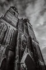 up! (Elmar Egner) Tags: dommagdeburg church monochrome blackandwhite sky heaven art romance steep lines voigtländer superwideheliar 15mm leicat leica