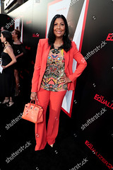 Magic Johnson (Zhanaemaxwell) Tags: los angeles premiere columbia pictures equalizer 2 ca usa 17 july 2018 cookie johnson attends at tcl chinese theatre supported part by lyft earlitha kelly red color colored colour coloured wide leg legged suit jacket trousers nude flesh tone sheer see through black blue yellow green embellished butterfly decoration top crocodile skin animal print pattern patterned handbag bag hermes birkin fashion alone female fulllength personality socialite 73103727