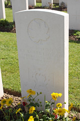 Grave of Private James Peter Robertson Tyne Cot Cemetery Zonnebeke Belgium (davidseall) Tags: grave headstone gravestone private james peter robertson vc victoria cross medal winner recipient canadian army infantry 1st world war great first ww1 tyne cot cemetery cemetary zonnebeke passchendaele flanders belgium