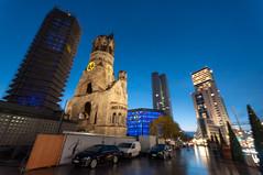 Memorial Church, Berlin (kucheryavchik) Tags: meetupberlineveningblaue stundekudammzoologischer gartenmeetup berlin evening blauestunde kudamm zoologischergarten street urban