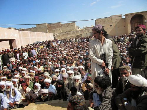 A gathering of the Bugti tribe upon their return to their hometown from exile, Dera Bugti, Balochistan, Pakistan.