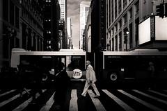 MTA (LoKee Photo) Tags: lokee lowkey black white monochrome street urban city bus pedestrian new york fuji x100s