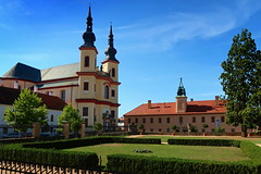 Church of the Finding of the Holy Cross and Regional Museum. (ZdenHer) Tags: regional museum church architecture tree grass park czechrepublic canonpowershotg7xmarkii
