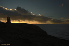 3KB12727a_C_2019-01-30 (Kernowfile) Tags: pentax cornwall cornish cornishmines tincoast sunset botallack mine grass bushes gorse path clouds sea waves sky coast pentaxforums