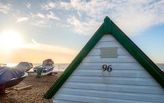 96 (Mandy Willard) Tags: 365 2201 beach hut 96 boats sea sky clouds sun