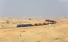 Israel Railways 712T + 710T Ar'ara BaNegev (OliverHeckmann) Tags: israel railways ir egemd ngt26cw3 nre tzv gredelj hz 2063 710t 712t containerzug containerblocktrain ararabanegev dimona beer sheva