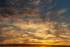 Arctic sky takeoff (George Baritakis) Tags: airplane aviation travel travelling transportation travelblog skyline alaska nature color usa
