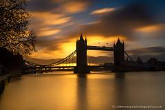 Tower Bridge Sunrise-0977 (Splendid What) Tags: 2018 clouds december london longexposure sky sunrise towerbridge england unitedkingdom gb riverthames bridge orange