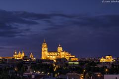 Iluminación. Catedral y La Clerecía (jesussanchez95) Tags: salamanca catedral cathedral nocturna night arquitectura architecture bluehour horaazul urbanlandscape