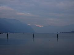 Melancholic view (lsdiego85) Tags: sunset tramonto clouds nuvole blue grey mountain lagodiseo iseo lake lago paratico veneto italia italy panasonic lumic dcfz82