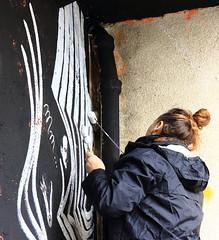 281A6289 Rennes Impermanence Galerie Mur6 @Eve Le Trévédic (blackbike35) Tags: rennes bretagne france impermanence galerie mur wall street streetart paint painting art work writing artistes women