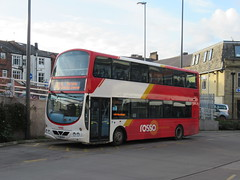 Rosso 2796 (FJ08BYV) 30102018 (Rossendalian2013) Tags: transdevblazefield transdev rossendaletransport rosso bus rochdale interchange volvo b9tl wright eclipsegemini yorkshirecoastliner fj08byv