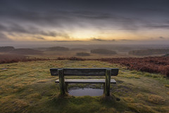 Winter Sunrise (John__Hull) Tags: bradgate park winter autumn sunrise clouds sky bench seat wooden landscape view countryside leicestershire charnwood forest wood uk england grass bracken ferns nikon d7200 sigma 1020mm