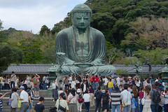 The Great Buddha (faoch) Tags: kamakura japan buddhist buddha statue crowd religion