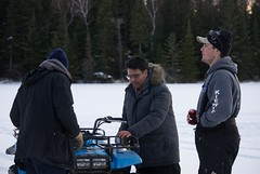 Boys on the ice (Pwern2) Tags: winter canadian canada wilderness thebush friendlymanitoba friendly talking ruralmanitoba ruralbeauty conversations enjoyinglife friends friendship atvs atv nature pedruchnybay lakewinnipeg snow ice beer pointdubois beauty tradition