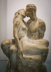 Everlasting (dayman1776) Tags: man woman lovers kiss plaster sculpture escultura statue kissing male female figurative art museum sony a6000 brookgreen gardens south carolina myrtle beach nude