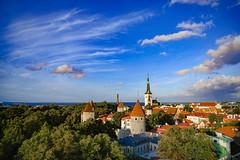 Tallinn Old Town (VisitEstonia) Tags: fam trip tallinn old town sun towers church