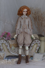 Fragile Calla (AyuAna) Tags: bjd ball jointed doll dollfie abjd ayuana design minidesign handmade ooak clothing clothes dress set outfit gown habilles sd sd13 boy volks size fashion couture sewing sewingfordolls fantasy historical style switch uhuir hybrid dfa body whiteskin