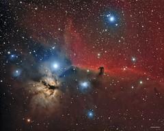 B33 Horsehead Nebula (DocRX) Tags: astronomy astrophysics astrophotography astrofotografia universe universo galaxy galassia nebula nebulosity nebulosa cielo notte stella stelle stars night sky cosmos cosmic telescope telescopio takahashi fsq106ed mach1gto lodestar qsi astrodon b33 testa di cavallo horse head cabeza de caballo ic434 ic 434 33 b