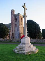 The Cross, St.Paul's Church, Irton, Cumbria (tosh123) Tags: church cross tower monument cumbria england history wreath
