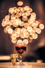 Cheers (Vagelis Pikoulas) Tags: danbo dashboard toy sigma art f14 85mm canon 6d bokeh blur lights