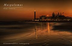 Faro de Maspalomas (Fotomanufaktur.lb) Tags: sanbartolomédetirajana canarias spanien es sunset sonnenuntergang schölkopf schoelkopf ocean beach strand playa