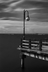 light and sea (wan liem) Tags: black blackandwhite blackwhite white longexposure sea cloud pier fujifilm xe3 xc1650 firecrest hitech nd48 16stops super stopper