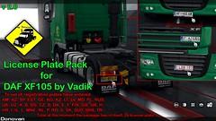 Upgrade License Plate Pack v2 (Sergey Donovan) Tags: daf xf105 game eurotrucksimulator2 mods