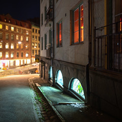 Street Lights (Edd Noble) Tags: bokeh bokehpanorama bokehpano brenizermethod street lighting sonya7iii konica konicahexanonar85mmf18 konicahexanon gothenburg göteborg scandinavia sweden night handheld microsoftice
