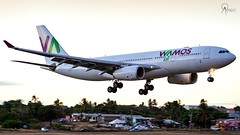 Wamos Air | EC-LNH | Airbus A330-243 | BGI (Terris Scott Photography) Tags: aircraft airplane aviation plane spotting nikon d750 tamron 70200mm f28 di vc usd g2 travel barbados jet jetliner wamos air airbus a330 200 evening