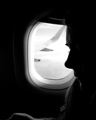 Window Seat (Steven.Harrison) Tags: window view seat plane wing travel portrait candid candidphotography bnw portraitphotography bw blacknwhite blackandwhite photography silhouette outline monotone light travelphotography adventure iceland